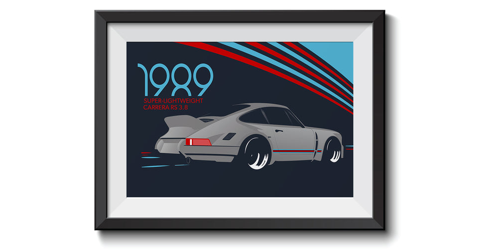 Porsche Martini Racing Super-lightweight RS 3.8 - Print