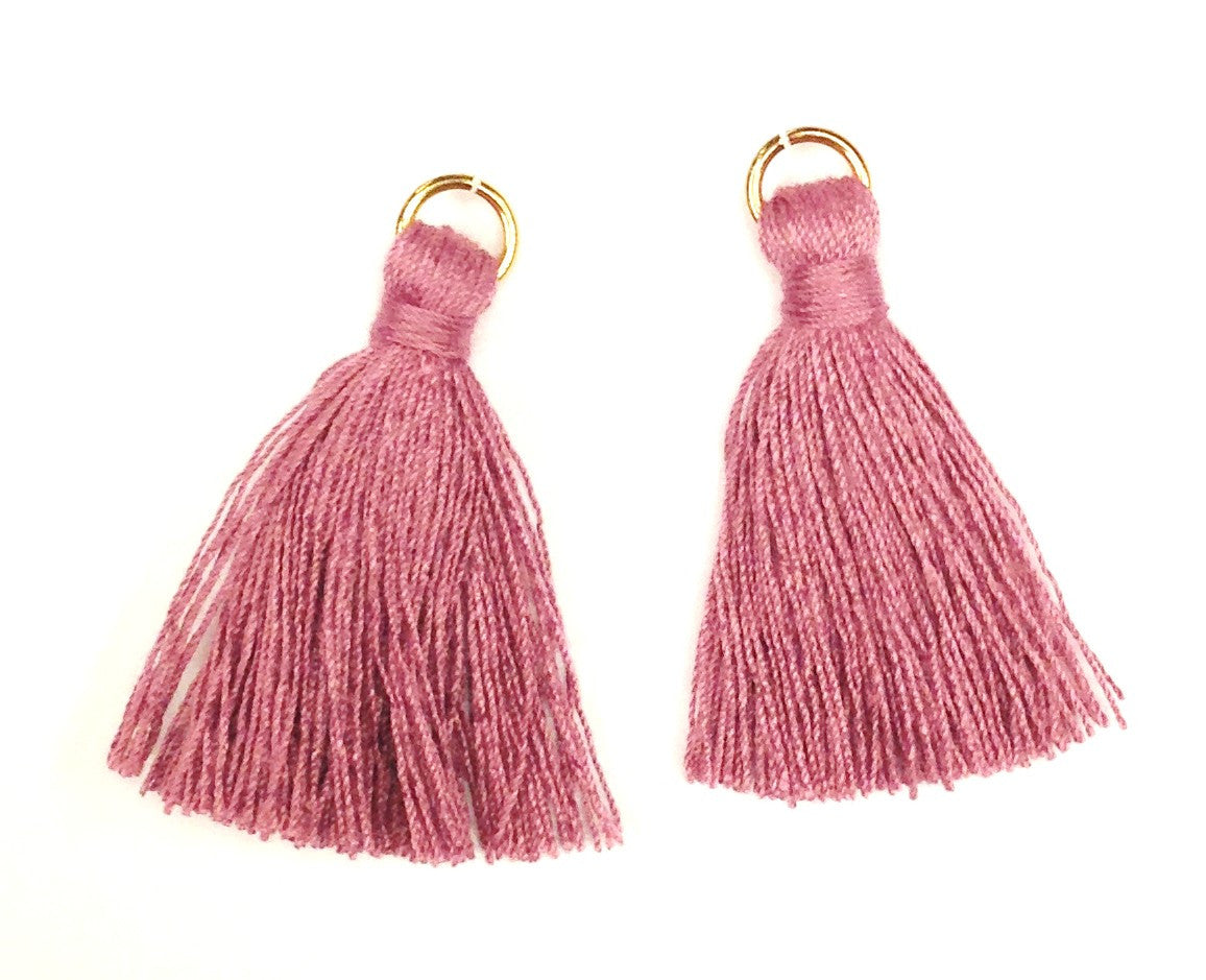 Findings: Hand Crafted Thread Tassel - Violet (2pcs)