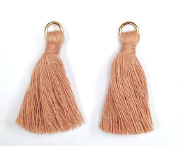 Findings: Hand Crafted Thread Tassel - Silk (2pcs)
