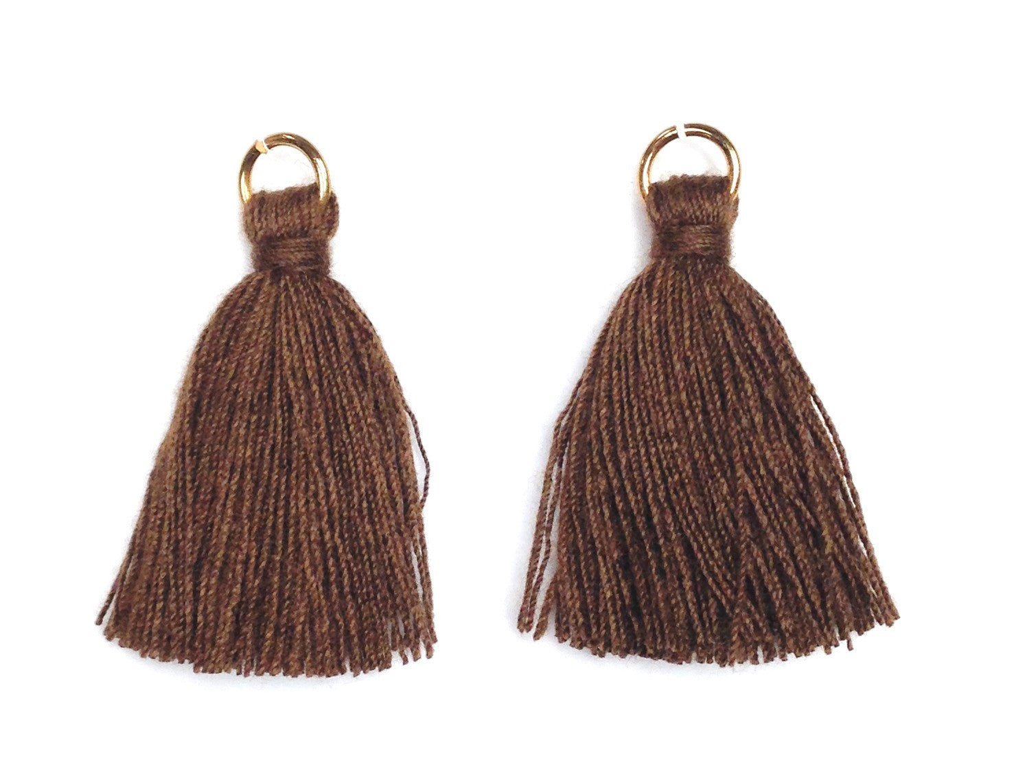 Findings: Hand Crafted Thread Tassel - Brown (2pcs)