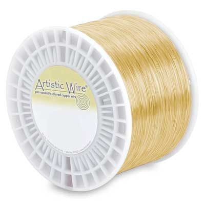 ARTISTIC WIRE WHOLESALE -  20 GAUGE TARNISH-RESISTANT BRASS - (APX 315FEET/LB ) 5 LBS