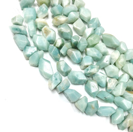 A&SB Stone - Amazonite Nuggets  8-15mm x 12-22mm (8 Inch Strand)