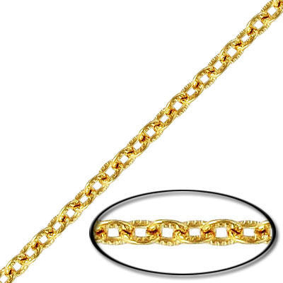 WHOLESALE CHAIN - 5X4MM STEEL CABLE TEXTURED CHAIN GOLD FINISH - 20MTR(65FT) SPOOL