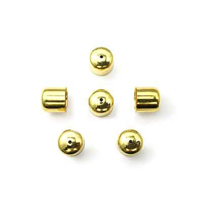 Findings - Metal Bead Cap - 10mm Round (4pcs)