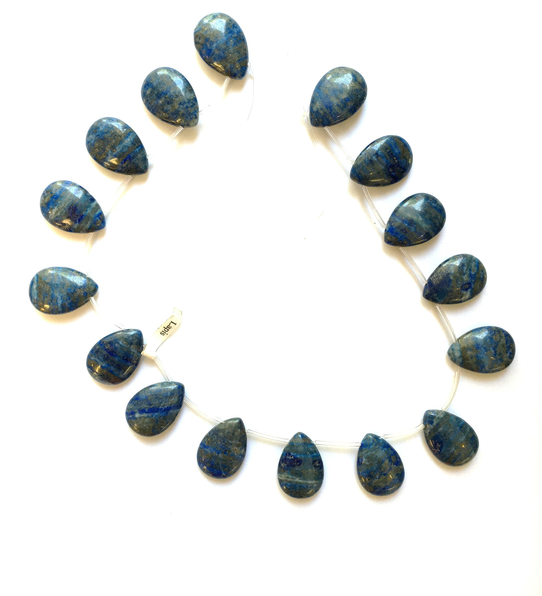 SW000096 - Stone Top Drilled Tear Drop- Lapis Lazuli 40x30mm (6Pcs)