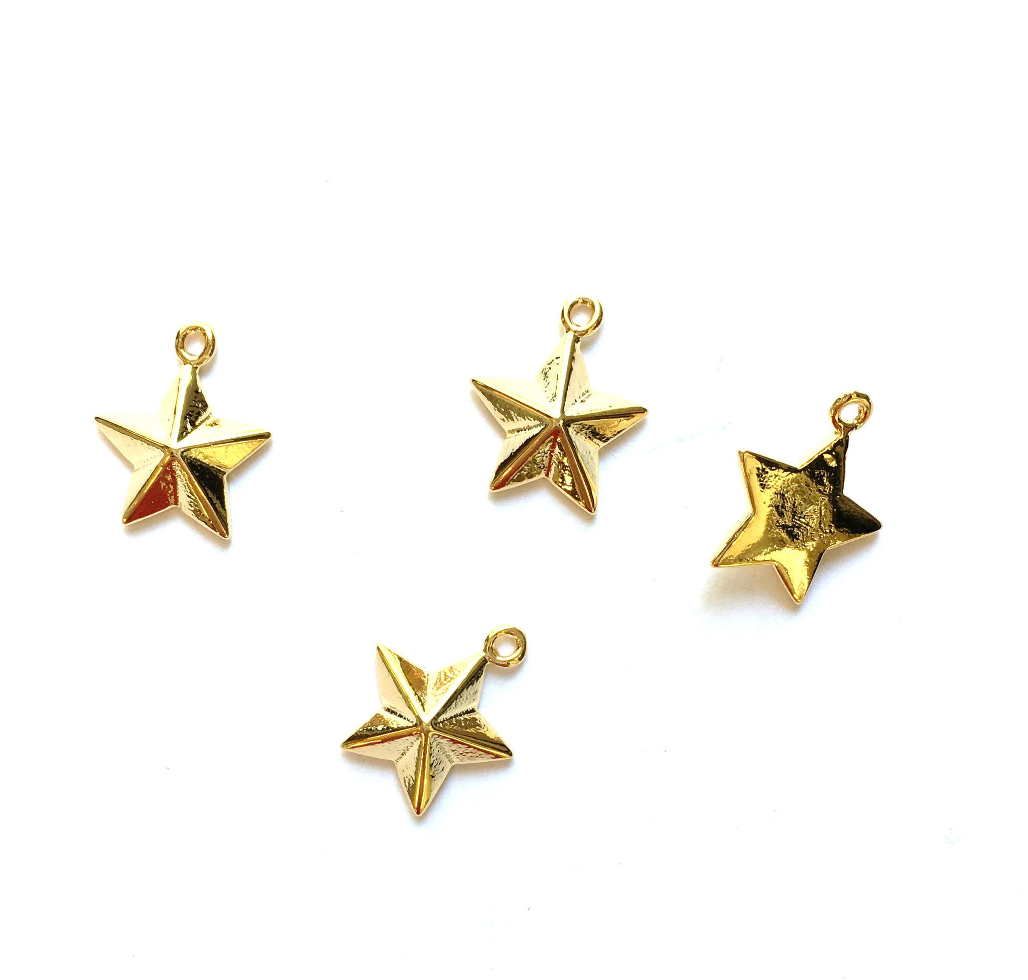 E - Findings Charm - Nautical Star Charm Component - 12x14mm (1 Pair)