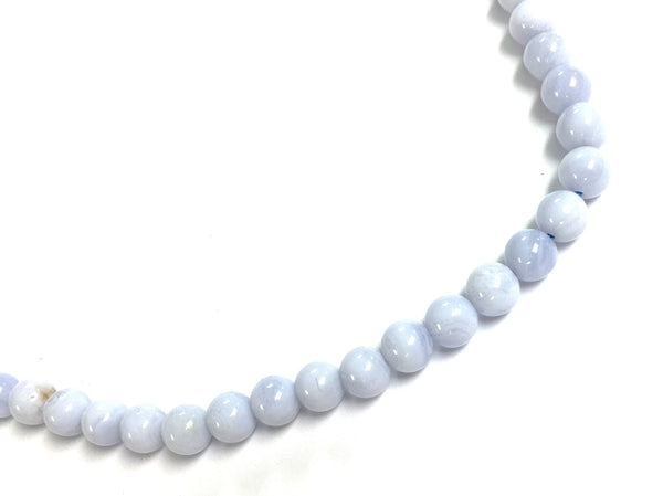 A&SB Stone - Round Stone - Blue Lace Agate - 6mm 15.5 Inch/ St