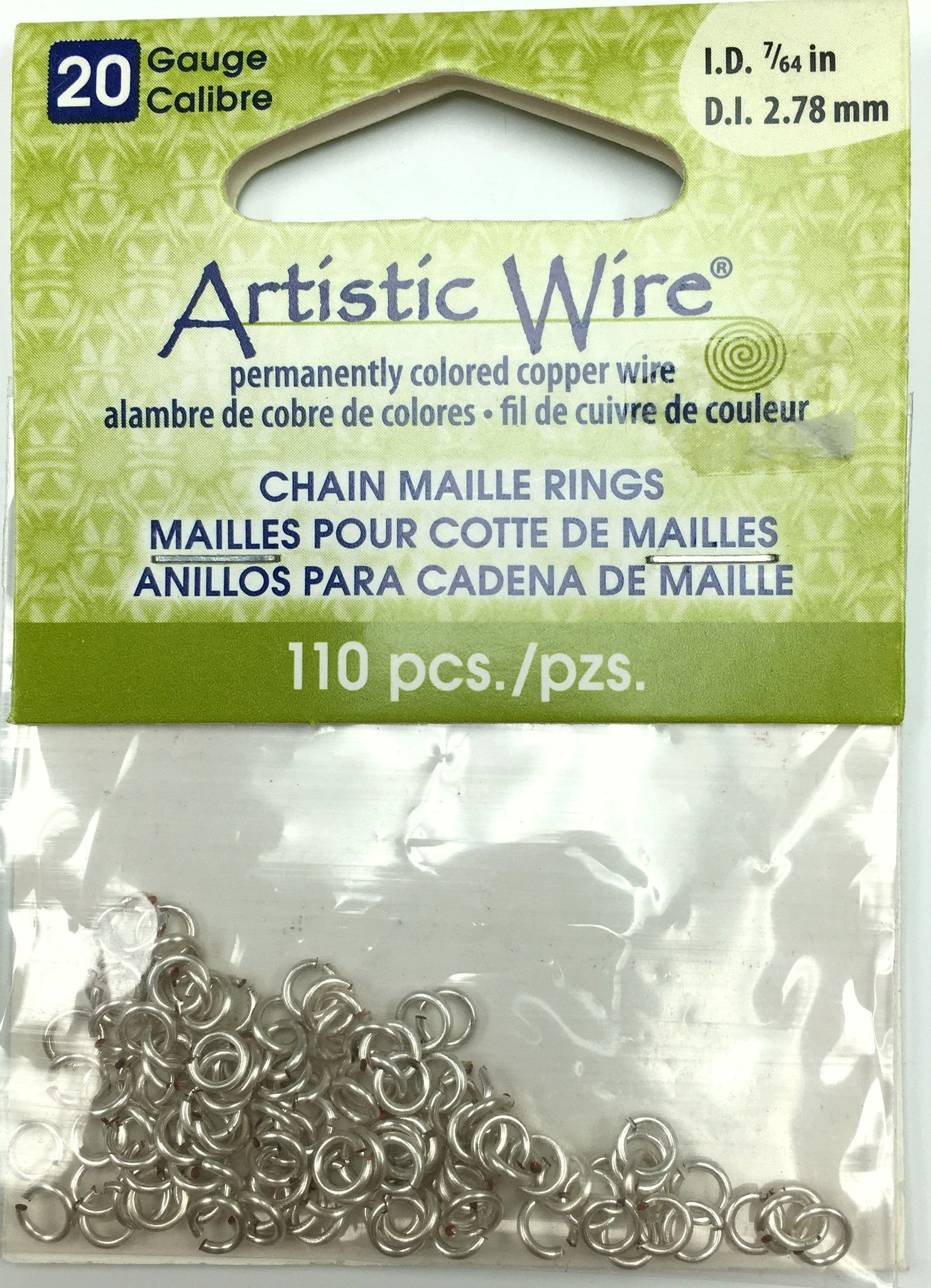 Findings - Artistic Wire Jump Rings - 20g - 7/64in - Silver Color - 110pcs