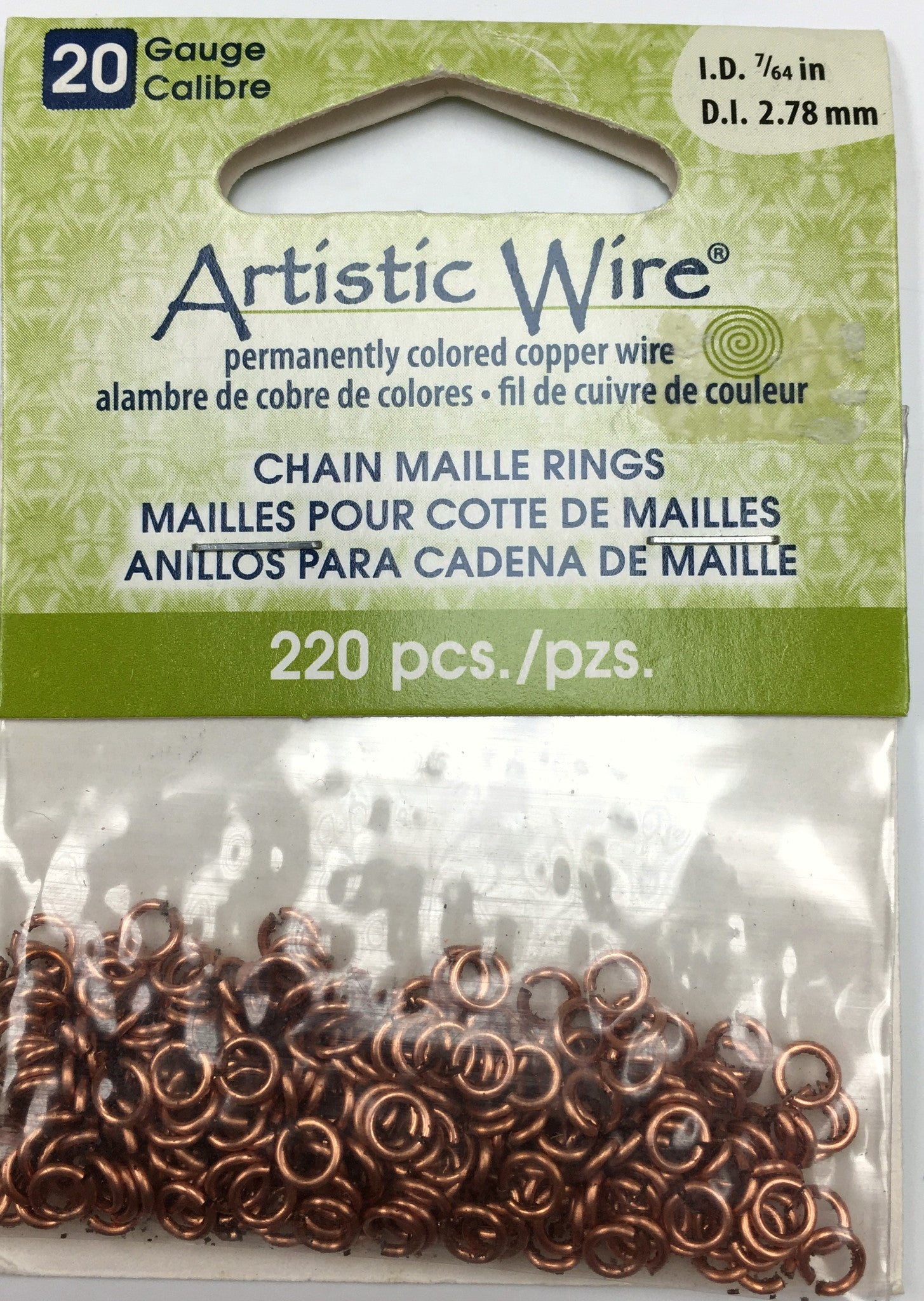 Findings - Artistic Wire Jump Rings - 20g - 7/64in - Natural Copper - 220pcs