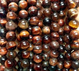 SW000762 - Round Stones - Red Tigers Eye  8mm (48pcs)