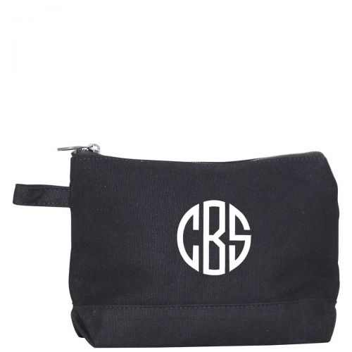 black monogram makeup bag