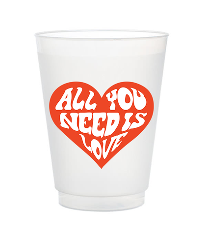 all you need is love frost flex valentine's day cups