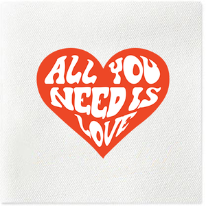 all you need is love linen napkins