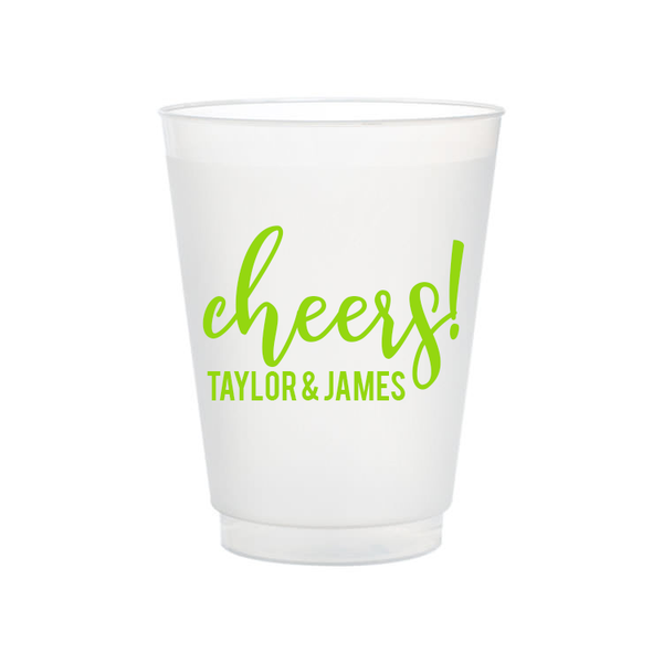 engagement custom plastic cups