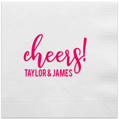 cheers personalized engagment napkins