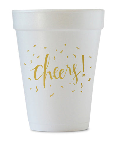 cheers styrofoam cups