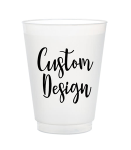 custom design personlized frost flex cups