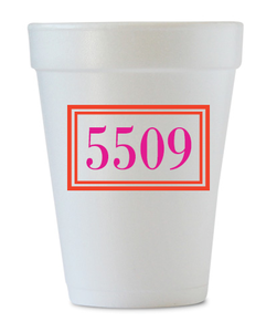 house warming styrofoam personalized cups
