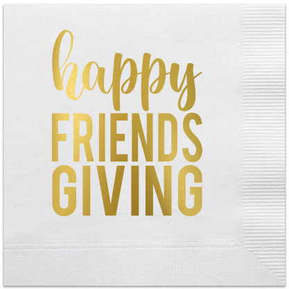 happy friendsgiving napkins