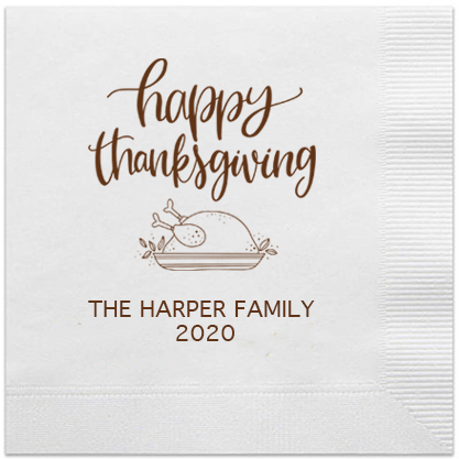 personalized thanksgiving napkins