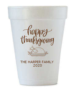 happy thanksgiving personalized cups