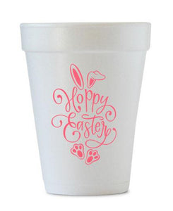 hoppy easter foam cups