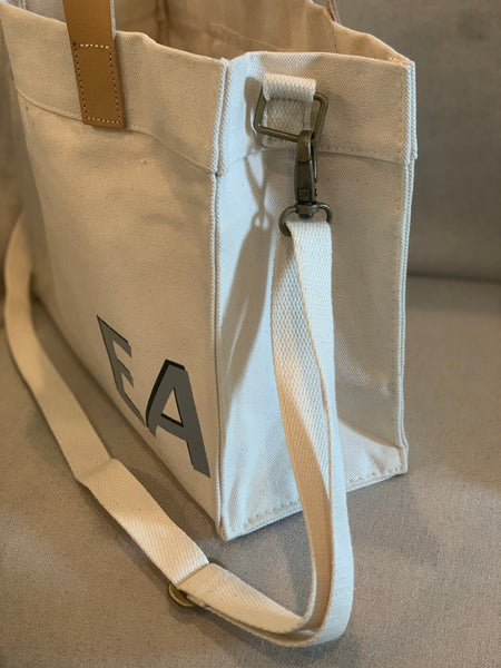 personalized canvas tote with strap