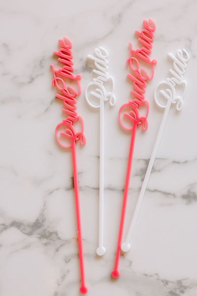 bride acrylic stir sticks
