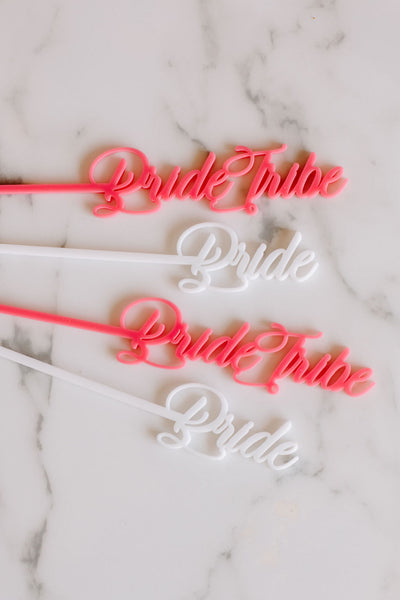 bride tribe acrylic stir sticks