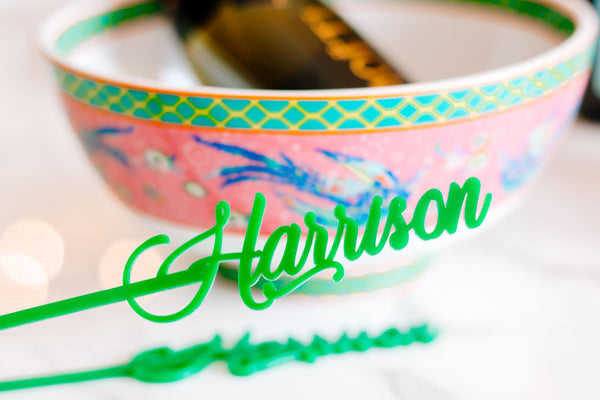 custom name stir sticks