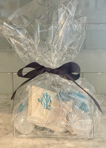 monogram gift basket