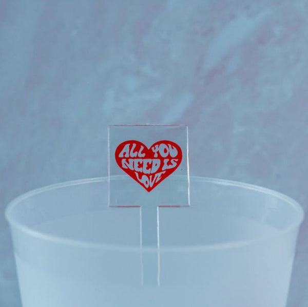 all you need is love stir sticks