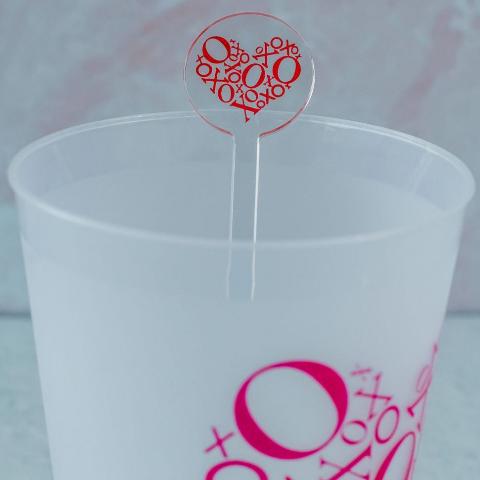 xo valentine's day swizzle sticks