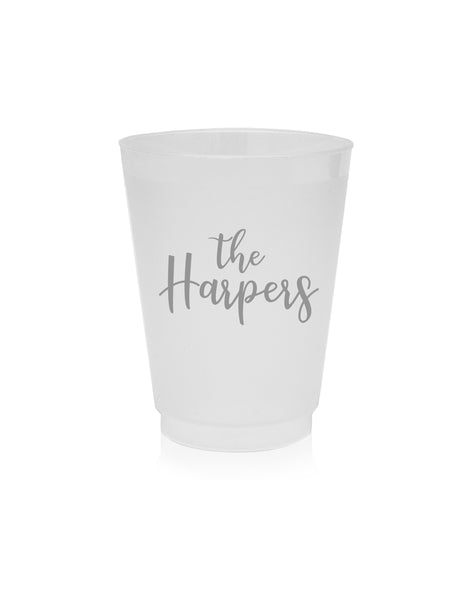 family personalized frost flex cups