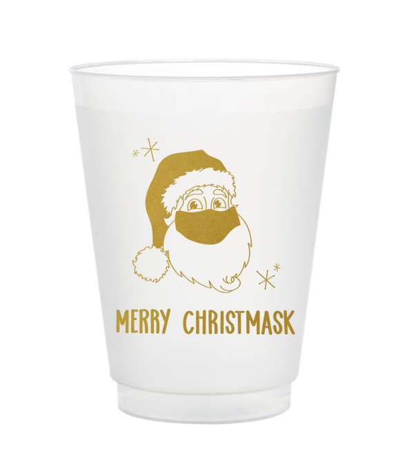 merry christmask shatterproof cups