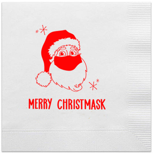 merry christmask cocktail napkins