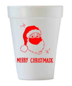 merry christmask styrofoam cup