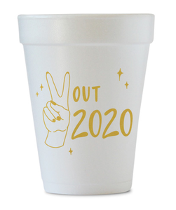 peace out 2020 styrofoam