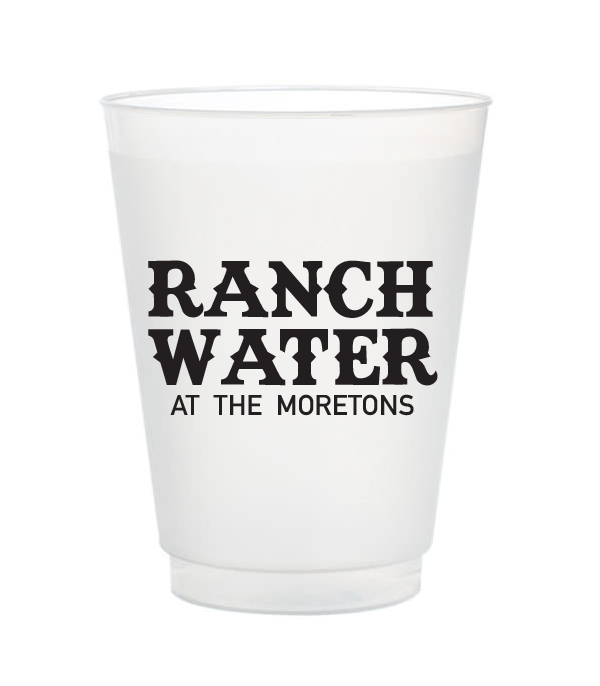 ranch water personalized cups