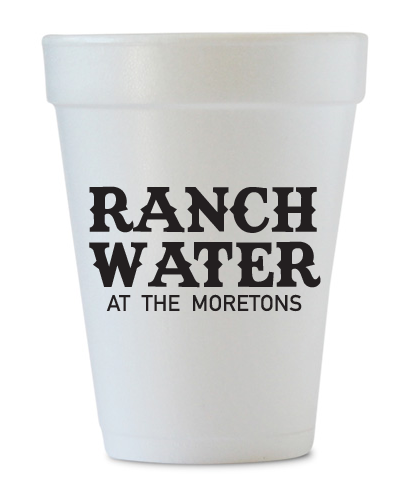 custom ranch water last name cups