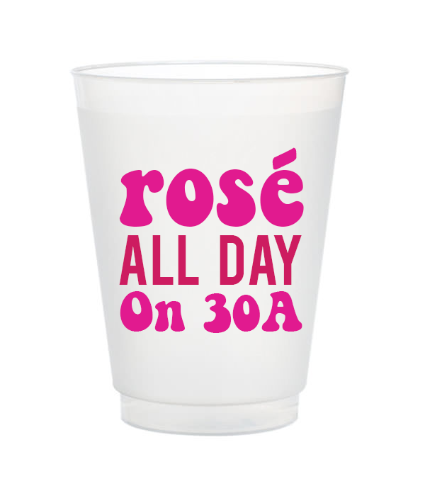rose all day on 30A cups