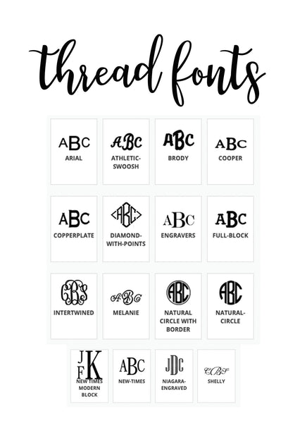 monogram thread fonts
