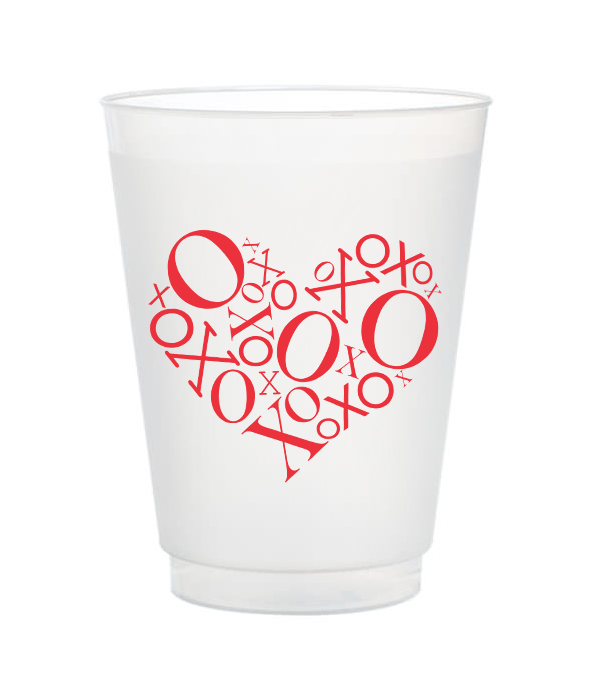 XO Heart Valentine's Day Cups