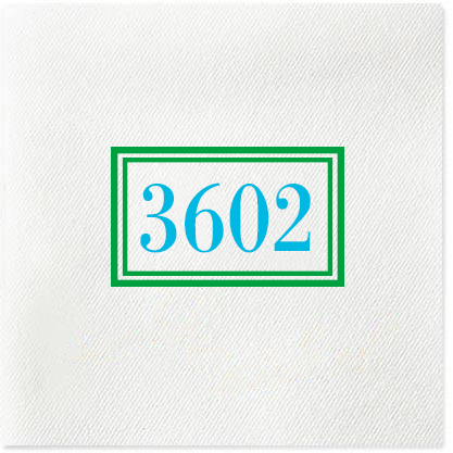 Address Double Box Cocktail Napkins