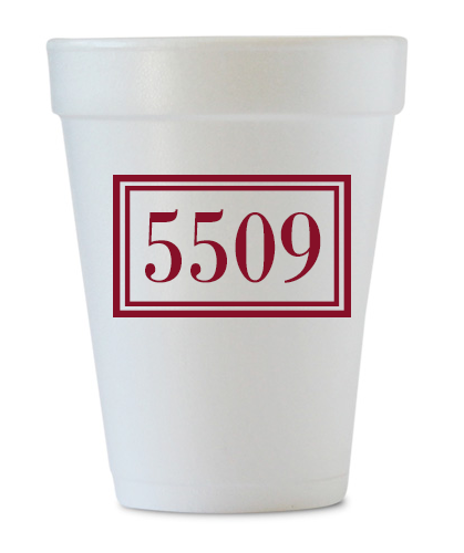 customized address cups