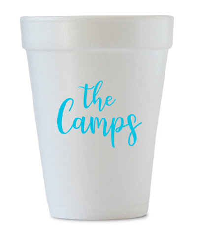 personalized last name styrofoam cups