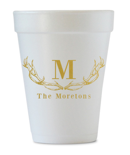 personalized antler last name cups