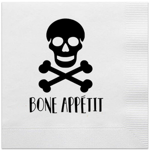 bone appetit halloween napkins