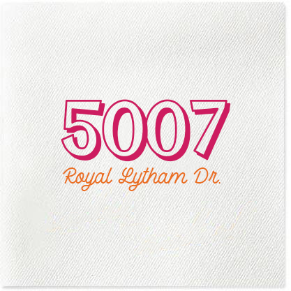 personalized address napkins