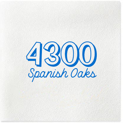 custom address napkins